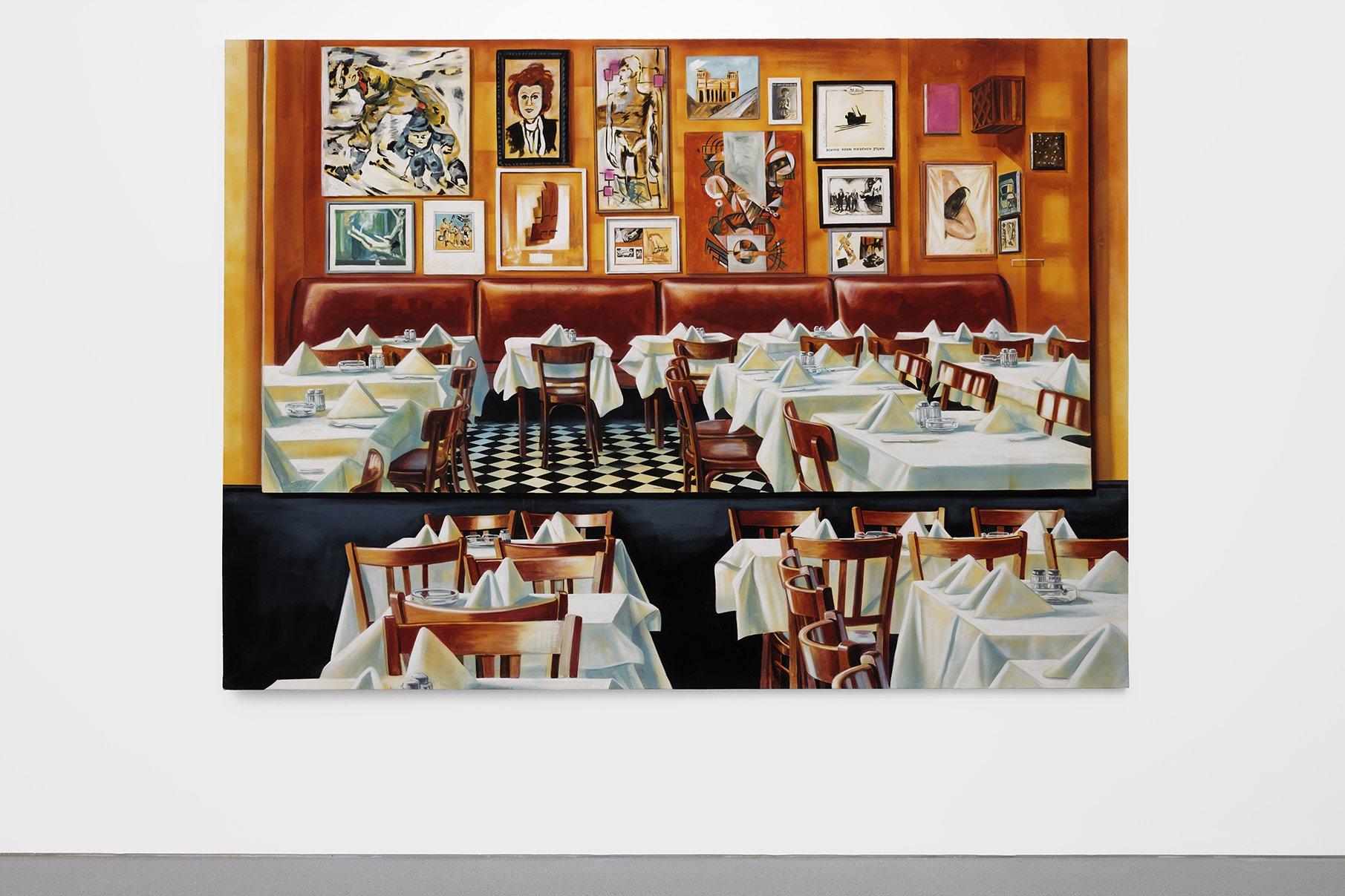 Bourse Museum Paris. Martin Kippenberger, Paris Bar, 1993, Bourse de Commerce - Pinault Collection, Paris, France.