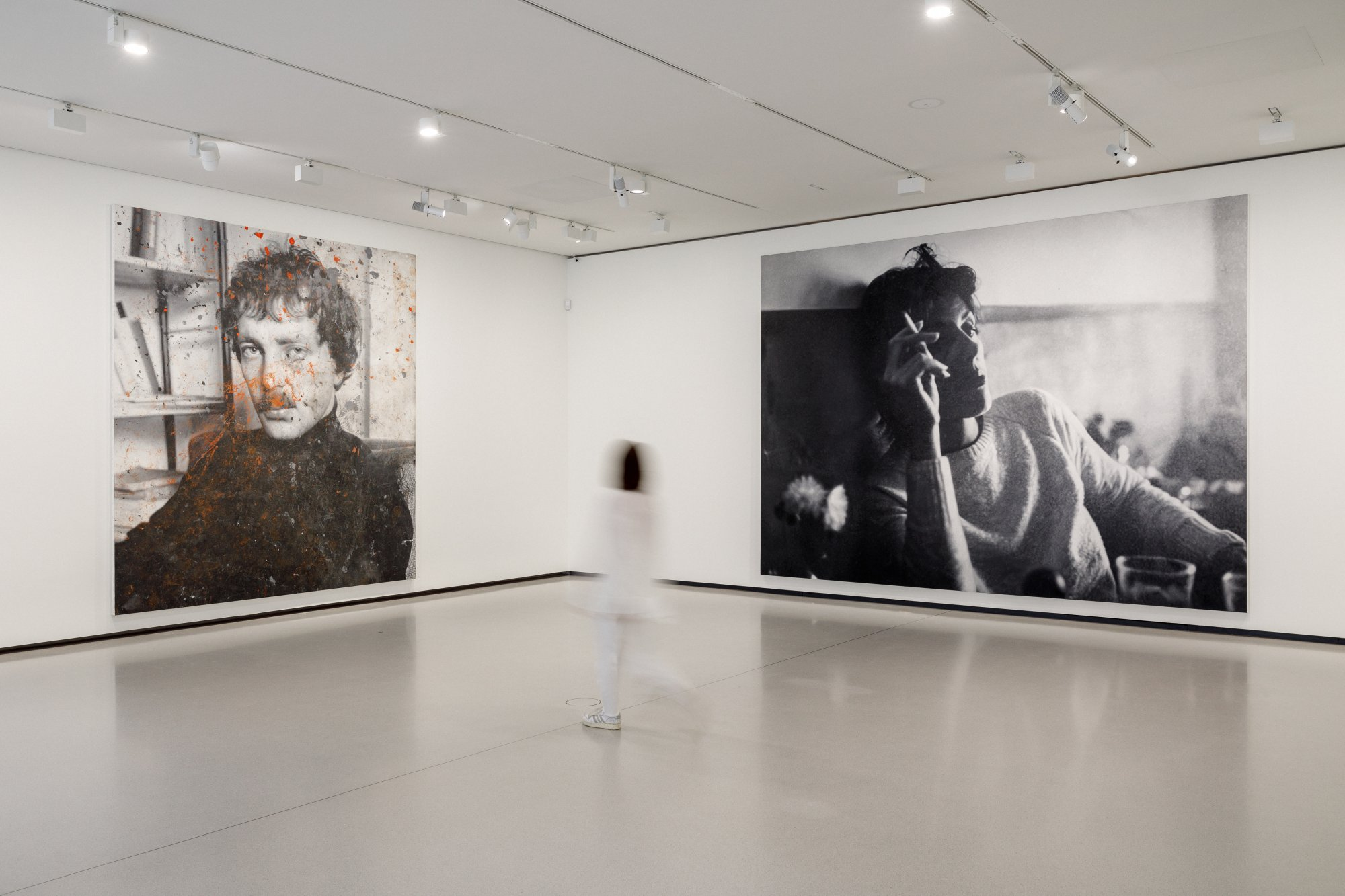 Bourse Museum Paris. Left: Rudolf Stingel, Untitled (Franz West), 2011, Bourse de Commerce - Pinault Collection, Paris, France. Right: Rudolf Stingel, Untitled (Paula), 2012, Bourse de Commerce - Pinault Collection, Paris, France.